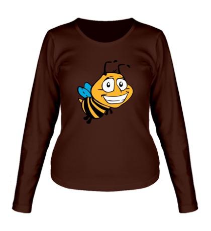 Женский лонгслив Улыбчивая пчелка