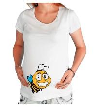 Футболка для беременной Улыбчивая пчелка
