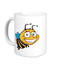 Керамическая кружка Улыбчивая пчелка