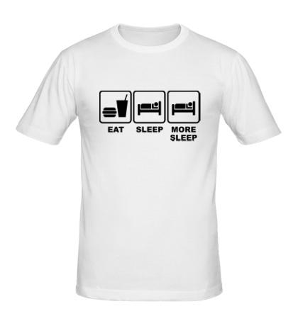 Мужская футболка Eat Sleep More sleep