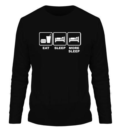 Мужской лонгслив Eat Sleep More sleep
