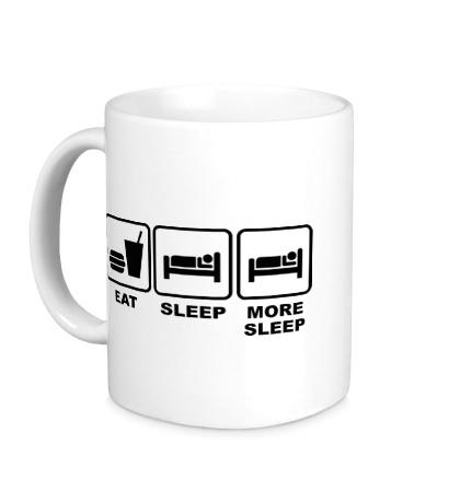Керамическая кружка Eat Sleep More sleep