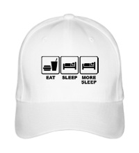 Бейсболка Eat Sleep More sleep