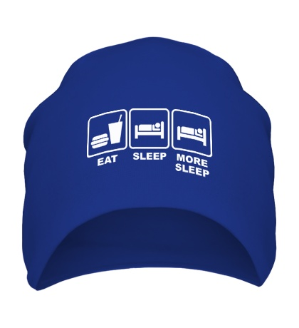 Шапка Eat Sleep More sleep