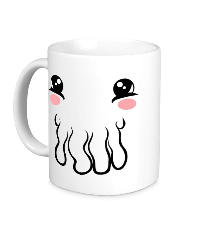 Керамическая кружка Миленький кальмар