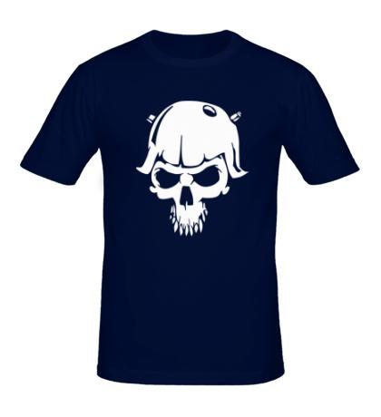 Мужская футболка Череп солдата