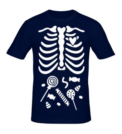 Мужская футболка Конфетки в животе