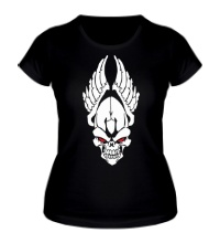 Женская футболка Череп ангела