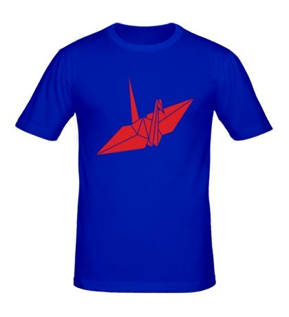 Мужская футболка Бумажный журавлик