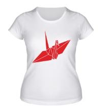 Женская футболка Бумажный журавлик