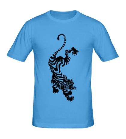 Мужская футболка «Падающий тигр»