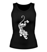 Женская майка Падающий тигр