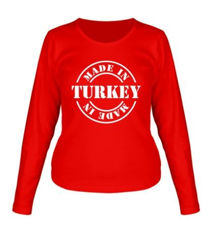 Женский лонгслив «Made in Turkey»