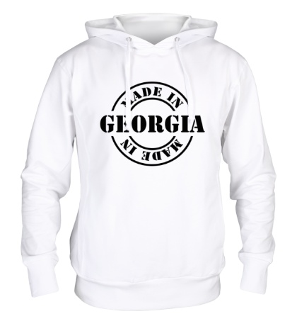 Толстовка с капюшоном Made in Georgia