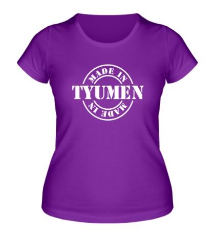 Женская футболка Made in Tyumen