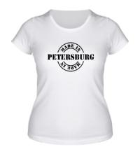 Женская футболка Made in Petersburg