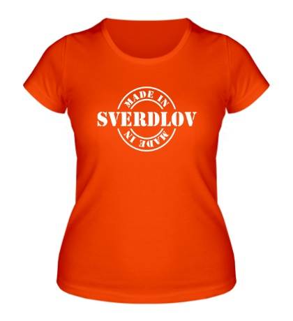 Женская футболка Made in Sverdlov