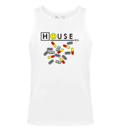 Мужская майка House MD: Smile Pills
