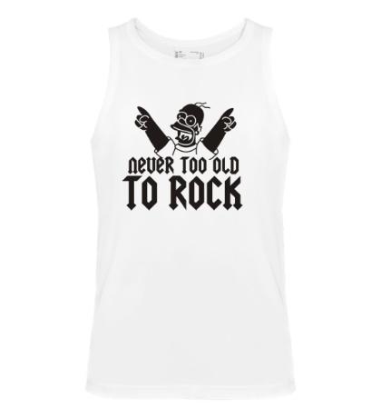 Мужская майка Never too old to Rock