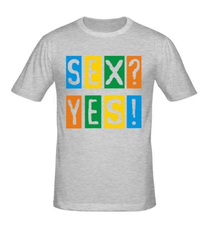 Мужская футболка Sex Yes