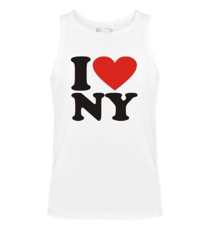 Мужская майка I love NY