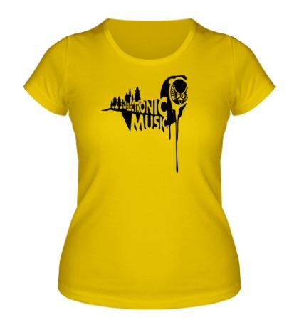 Женская футболка Electronic music