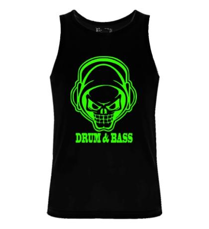 Мужская майка Drum & Bass Skull Glow