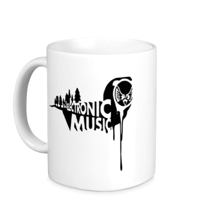 Керамическая кружка Electronic music