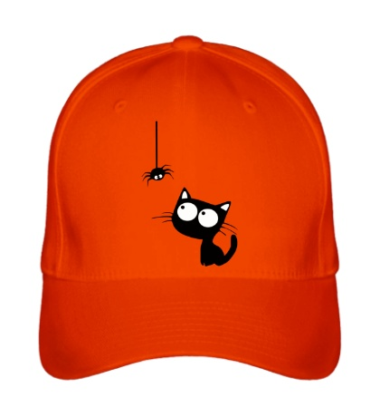Бейсболка Кот и паучок