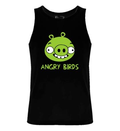 Мужская майка Anrgy Birds: Green Pig