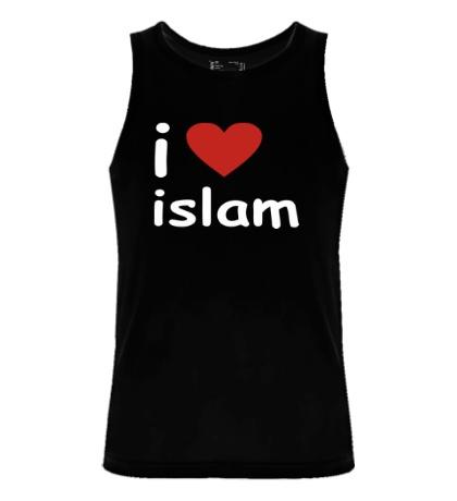 Мужская майка I love islam