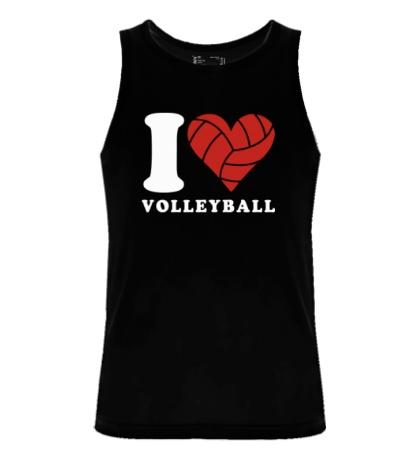 Мужская майка I Love Volleyball