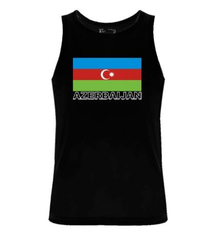 Мужская майка Флаг Азейбарджана