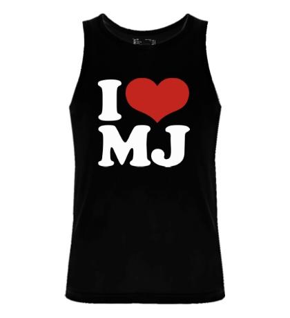 Мужская майка I Love MJ