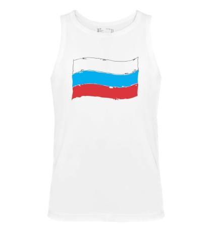 Мужская майка Российский флаг