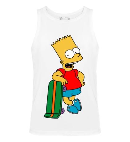 Мужская майка Барт со скейтом