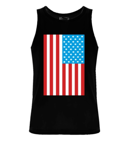 Мужская майка Американский флаг