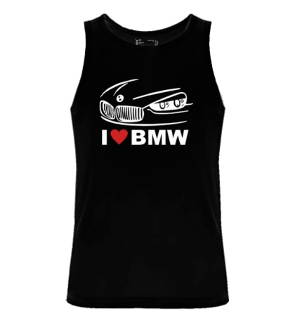 Мужская майка I love BMW