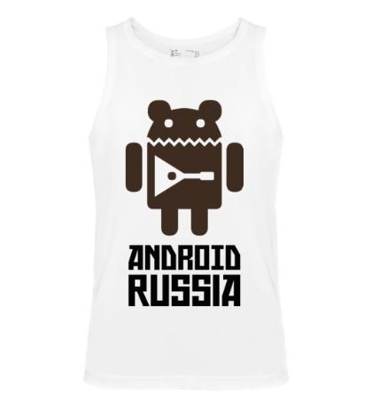 Мужская майка Android Russia