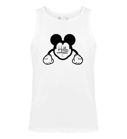 Мужская майка Hello, Mickey Mouse