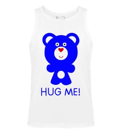 Мужская майка Hug me, Обними меня