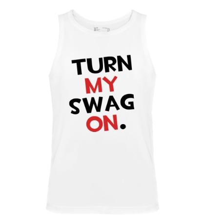 Мужская майка Turn my Swag on