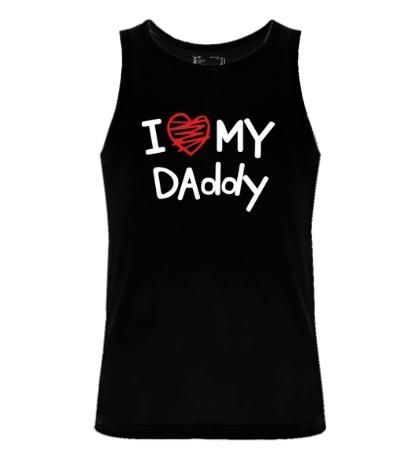 Мужская майка I love my Daddy