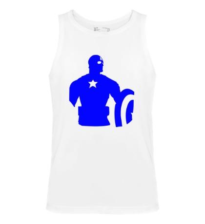 Мужская майка Captain America: Silhouette
