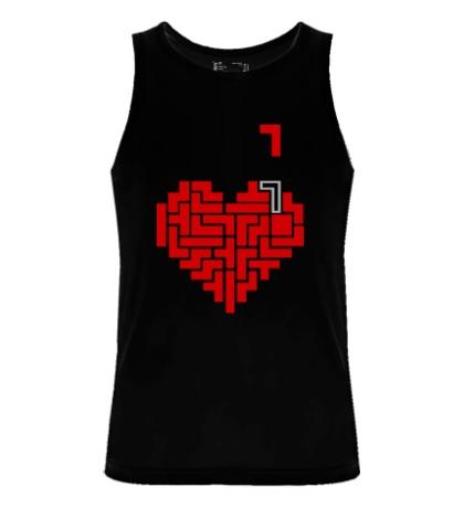 Мужская майка Heart tetris сердце тетрис