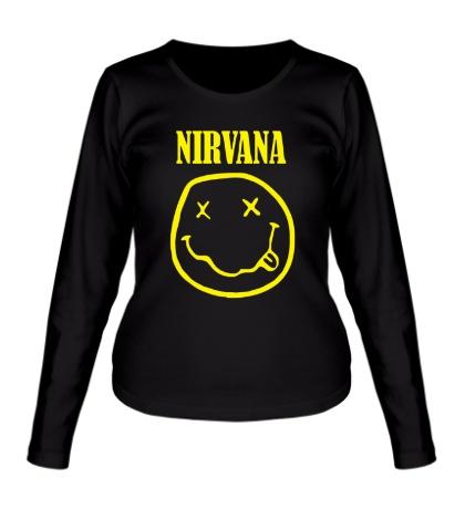 Женский лонгслив Nirvana