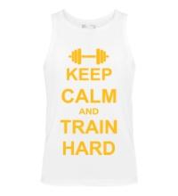 Мужская майка Keep calm and train hard
