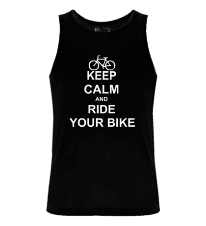 Мужская майка Keep calm and ride your bike