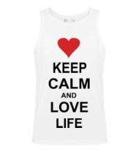 Мужская майка Keep calm and love life