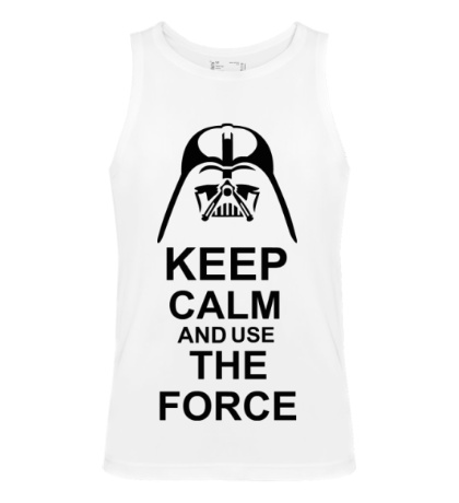 Мужская майка Keep calm and use the force